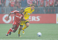 Marvell Wynne (16) and Chad Marshall (14) in action at  BMO Field on Saturday September 13, 2008. .The game ended in a 1-1 draw.