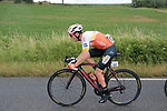 Kévin Le Cunff (FRA) St Michel-Auber93 in the breakaway again during Stage 2 of the Route d'Occitanie 2019, running 187.7km from Labruguière to Martres-Tolosane, France. 21st June 2019<br /> Picture: Colin Flockton | Cyclefile<br /> All photos usage must carry mandatory copyright credit (© Cyclefile | Colin Flockton)