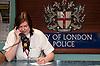 Front desk of Bishopsgate Police Station, City of London