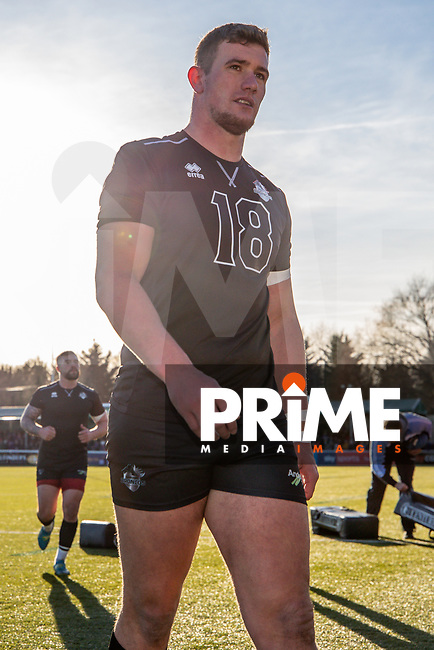 Nathan MASON of London Broncos completes his pre match warm up ahead of the Betfred Super League match between London Broncos and Wakefield Trinity at Castle Bar , West Ealing , England on 3 February 2019. Photo by David Horn.