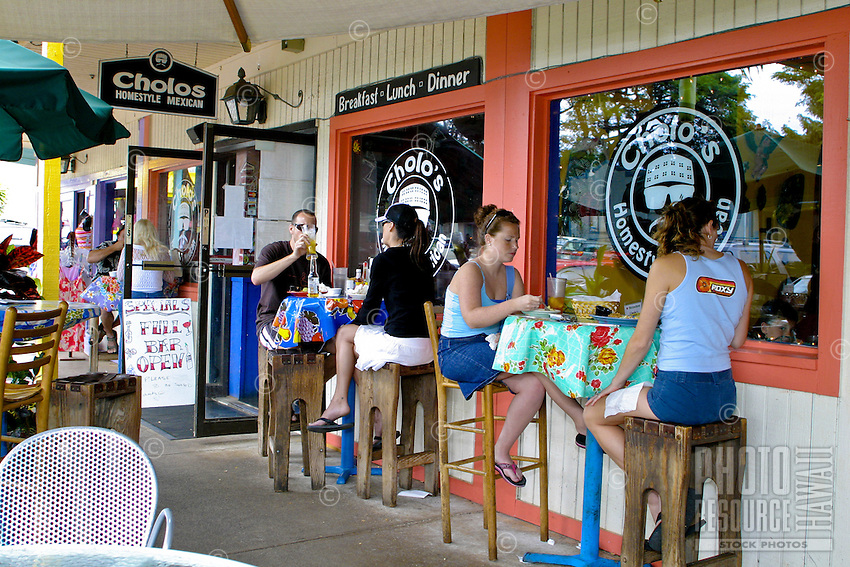 Cholo's restaurant offers diners the taste of authentic homestyle mexican food. Located in the Northshore Marketplace near the town of Haleiwa on Oahu's north shore.