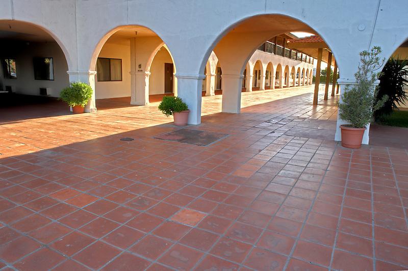 Mission de Oro showing plaza. Santa Nella. California