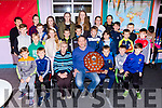 Margaret Culloty County Secretary and Donal O'Doherty Chairman of Spa/Muckross and the talented athletes at their awards night in Lissivigeen NS on Thursday evening
