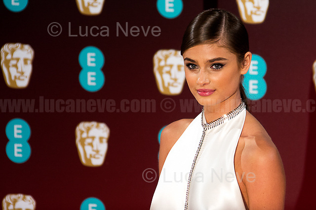 Taylor Hill.<br /> <br /> London, 12/02/2017. Red Carpet of the 2017 EE BAFTA (British Academy of Film and Television Arts) Awards Ceremony, held at the Royal Albert Hall in London.<br /> <br /> For more information please click here: http://www.bafta.org/