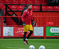 Lincoln City's Josh Vickers during the pre-match warm-up<br /> <br /> Photographer Andrew Vaughan/CameraSport<br /> <br /> The EFL Sky Bet League One - Accrington Stanley v Lincoln City - Saturday 15th February 2020 - Crown Ground - Accrington<br /> <br /> World Copyright © 2020 CameraSport. All rights reserved. 43 Linden Ave. Countesthorpe. Leicester. England. LE8 5PG - Tel: +44 (0) 116 277 4147 - admin@camerasport.com - www.camerasport.com