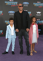 19 April 2017 - Hollywood, California - Vin Diesel (C) son Vincent Sinclair (L) and daughter Hania Riley Sinclair. Premiere Of Disney And Marvel's &quot;Guardians Of The Galaxy Vol. 2&quot; held at the Dolby Theatre. <br /> CAP/ADM<br /> &copy;ADM/Capital Pictures