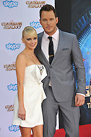 Chris Pratt &amp; wife Anna Faris at the world premiere of his movie &quot;Guardians of the Galaxy&quot; at the El Capitan Theatre, Hollywood.<br /> July 21, 2014  Los Angeles, CA<br /> Picture: Paul Smith / Featureflash