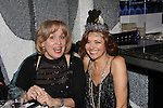 Broadway's Nancy Opel (performs tonight) and poses with Anne Sayre (As The World Turns) at The Times Square Broadway Royale on New Years Eve 2014 at the legendary Copacabana, New York City, New York. (Photo by Sue Coflin/Max Photos)