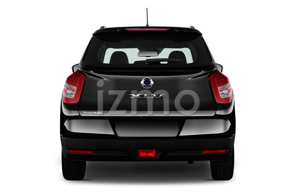 Straight rear view of a 2017 Ssangyong XLV Sapphire 5 Door SUV stock images
