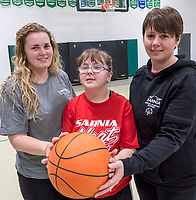 Tana Manchester, her daughter Emma, 13 and  Paige Price organizers of the Special Olympics.