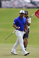 Yusaku Miyazato (JPN) sinks his putt on the 10th green during Saturday's Round 3 of the 117th U.S. Open Championship 2017 held at Erin Hills, Erin, Wisconsin, USA. 17th June 2017.<br /> Picture: Eoin Clarke | Golffile<br /> <br /> <br /> All photos usage must carry mandatory copyright credit (&copy; Golffile | Eoin Clarke)