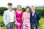 Enjoying the Colaiste Ide agus Iosef, Abbeyfeale  Debs at Ballyroe Heights Hotel on Tuesday were L-R  Elliott Reidy, Laura White, Imogen Lyons and TJ Doherty