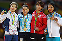 (L-R) Bo Kyeong Jeong (KOR), Paula Pareto (ARG), Ami Kondo (JPN), Otgontsetseg Galbadrakh (KAZ),<br /> AUGUST 6, 2016 - Judo : <br /> Women's -48kg Medal Ceremony<br /> at Carioca Arena 2 <br /> during the Rio 2016 Olympic Games in Rio de Janeiro, Brazil. <br /> (Photo by Koji Aoki/AFLO SPORT)