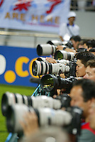 Photographers take pictures during the FIFA World Cup 2002.