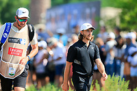 Tommy Fleetwood (ENG) on the 1st during the 2nd round of the DP World Tour Championship, Jumeirah Golf Estates, Dubai, United Arab Emirates. 22/11/2019<br /> Picture: Golffile | Fran Caffrey<br /> <br /> <br /> All photo usage must carry mandatory copyright credit (© Golffile | Fran Caffrey)