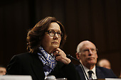 """Director Gina Haspel, Central Intelligence Agency (CIA) testifies before the United States Senate Select Committee on Intelligence during an open hearing on """"Worldwide Threats"""" on Capitol Hill in Washington, DC on Tuesday, January 29, 2019.  <br /> Credit: Martin H. Simon / CNP"""