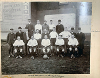 BNPS.co.uk (01202 558833)<br /> Pic: HAldridge/BNPS<br /> <br /> White Star line's football team - some of the line up are likely to have served on Titanic.<br /> <br /> A remarkable photo album taken by a White Star line officer Philip Agathos Bell that contains haunting before-and-after images of the most senior officer to survive the Titanic disaster has come to light.<br /> <br /> The contrasting snaps of Second Officer Charles Lightoller show him stood proudly and confidently in his White Star Line uniform in and then one of him looming gaunt and drawn from his recent ordeal.<br /> <br /> Another incredible image shows the football team for While Star Line.