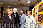 Tadhg and Anne McMahon, Peg King and Breda Shanahan enjoying the Austin Stacks GAA Club's photographic exhibition launch in Kerry County Library on Tuesday night last.