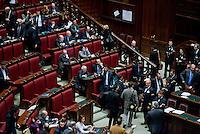 Roma, 31 Gennaio 2014<br /> Camera dei Deputati - Voto sulle pregiudiziali di costituzionalità della legge elettorale<br /> Deputati del Movimento 5 Stelle lasciano l'aula