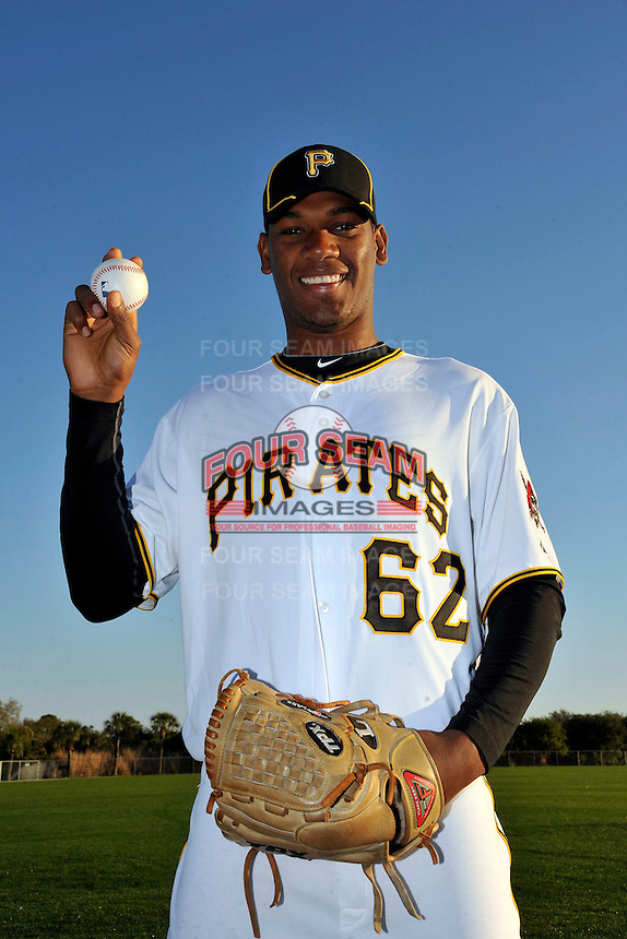 Feb 28, 2010; Bradenton, FL, USA; Pittsburgh Pirates  pitcher Ramon Aguero (62) during  photoday at Pirate City. Mandatory Credit: Tomasso De Rosa/ Four Seam Images