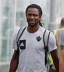 08.08.18 FK Maribor arrive at Glasgow airport: Kassim Doumbia