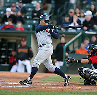 2007:  Dane Sardinha of the Toledo Mudhens follows through during an at bat vs. the Rochester Red Wings in International League baseball action.  Photo By Mike Janes/Four Seam Images