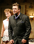 Alec Baldwin and Jan Maxwell ( Curtain Call ).for the Opening Night Performance of The Roundabout Theatre Company's Production of  ENTERTAINING MR. SLOANE at the Laura Pels Theatre in New York City..March 16, 2006.© Walter McBride /