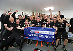 Sheffield United celebrate promotion during the League One match at the Sixfields Stadium, Northampton. Picture date: April 8th, 2017. Pic David Klein/Sportimage
