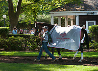 WILMINGTON, DE - JULY 15: Songbird #5 in the paddock before winning the G1 Delaware Handicap at Delaware Park in Wilmington, Delaware. (Photo by Sophie Shore/Eclipse Sportswire/Getty Images)