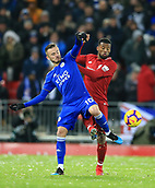 30th January 2019, Anfield, Liverpool, England; EPL Premier League football, Liverpool versus Leicester City; James Maddison of Leicester City competes for the ball with Georginio Wijnaldum of Liverpool