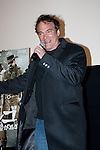 """February 13, 2013, Tokyo, Japan - Movie Director Quentin Tarantino came straight from London to promote his newest Movie """"Django Unchained"""" starring: Jamie Foxx, Christoph Waltz, Leonardo DiCaprio, Kerry Washington, Samuel L. Jackson and Don Johnson to hundreds of Japanese Fans at the Movie Theater in Tokyo. He was very energetic to his Fans who cheered and applauded to another great Movie from him. (Photo by Michael Steinebach /Aflo)"""