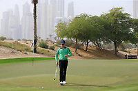 Brandon Stone (RSA) on the 3rd during Round 1 of the Omega Dubai Desert Classic, Emirates Golf Club, Dubai,  United Arab Emirates. 24/01/2019<br /> Picture: Golffile | Thos Caffrey<br /> <br /> <br /> All photo usage must carry mandatory copyright credit (&copy; Golffile | Thos Caffrey)
