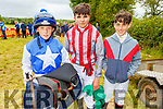Jockey Finn Brickley , Adam Ryan and Tom O'Connor (Dingle) ready to ride out at the Castleisland Races on Sunday.