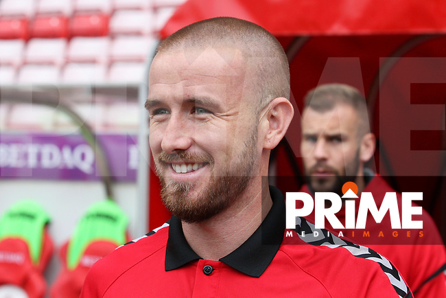 Fleetwood Town's Paddy Madden before the Sky Bet League 1 match between Sunderland and Fleetwood Town at the Stadium Of Light, Sunderland, England on 8 September 2018. Photo by Stephen Hadlow/MI News & Sport/PRiME Media Images.