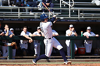 CARY, NC - FEBRUARY 23: Justin Williams #33 of Penn State University hits the ball during a game between Wagner and Penn State at Coleman Field at USA Baseball National Training Complex on February 23, 2020 in Cary, North Carolina.