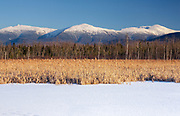 View of the Northern Presidential Range from the Presidential Range Rail at Pondicherry Wildlife Refuge in Jefferson, New Hampshire.