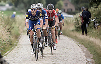 Niki Terpstra (NLD/Etixx-QuickStep) racing over familiar surfaces<br /> <br /> 1st Dwars door het Hageland 2016<br /> (pics by Léon Van Bon)