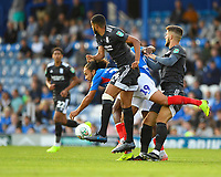 Mark Harness of Portsmouth is crowded out during Portsmouth vs Birmingham City, Caraboa Cup Football at Fratton Park on 6th August 2019