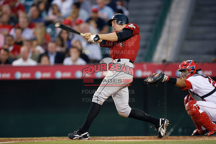 Hunter Pence of the Houston Astros during a game from the 2007 season at Angel Stadium in Anaheim, California. (Larry Goren/Four Seam Images)