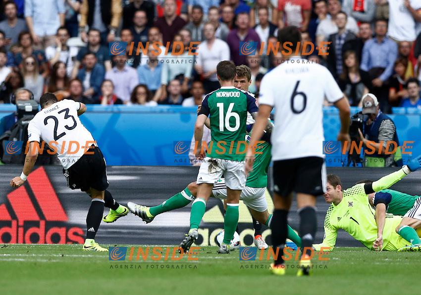 Mario Gomez Germany scores goal of 1-0. Gol Germania <br /> Paris 21-06-2016 Parc des Princes Footballl Euro2016 Northern Ireland - Germany  / Irlanda del Nord - Germania Group Stage Group C. Foto Matteo Ciambelli / Insidefoto