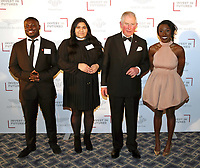 07 February 2019 - Prince Charles, Prince Of Wales with singer Laura Mvula and Prince's Trust Ambassadors during the Prince's Trust Invest In Futures Reception at The Savoy Hotel in London. Over the past 13 years, The Princes Trusts 'Invest in Futures' event has encouraged donors to help disadvantaged young people into work, training or enterprise. Photo Credit: ALPR/AdMedia