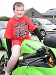 Adam Singleton from St Ita's school pictured at The Run Of The Country charity motorcycle run. Photo:Colin Bell/pressphotos.ie