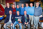 Members of the Greyhound Bar Old Reserve attending the Presidents Prize in the Greyhound Bar on Saturday night. <br /> Front l to r: Paddraig Teahan (Capt), Tommy Higgins (Winner) and John Cambell (President),.<br /> Standing l to r: Jamie Carnegie, Danny Holly, John O'Connell, Aidan O'Connor, Gene Kelly, Tony Conroy and Mike Barry.