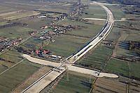 Autobahnbaustelle A26 bei Neu Wulmsdorf, Rübke: EUROPA, DEUTSCHLAND, NIEDERSACHSEN, NEU WULMSDORF (EUROPE, GERMANY), 06.01.2017: Autobahnbaustelle A26 bei Neu Wulmsdorf, Rübke. Blickrichtung Ost bis zum bisherigen Autobahnende bei Neu Wulmsdorf.