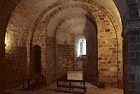 Europe/France/Normandie/Basse-Normandie/50/Manche/Mont Saint-Michel: Intérieur de la chapelle Saint-Martin