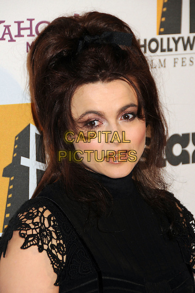 HELENA BONHAM CARTER.14th Annual Hollywood Awards Gala Presented By Starz held at The Beverly Hilton Hotel, Beverly Hills, CA, USA. .October 25th, 2010 .headshot portrait black lace.CAP/ADM/BP.©Byron Purvis/AdMedia/Capital Pictures