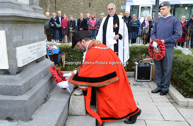 Friday 11 November 2016<br /> Re: Remembrance Day service in Tenby, Pembrokeshire, Wales, UK.