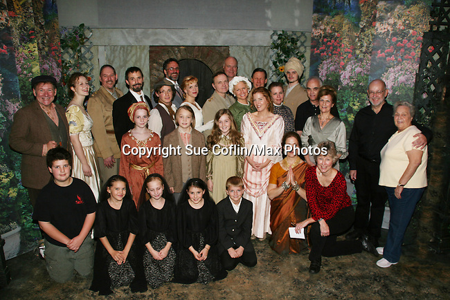 "Cast of The Secret Garden - Philipstown Depot Theatre presents The Secret Garden on November 7, 2009 in Garrison, New York. It runs Oct. 23 until Nov 15, 2009. The musical The Secret Garden is the story of ""Mary Lennox"", a rich spoiled child who finds herself suddenly an orphan when cholera wipes out the entire Indian village where she was living with her parents. She is sent to live in England with her only surviving relative, an uncle who has lived an unhappy life since the death of his wife 10 years ago. ""Archibald's son Colin"", has been ignored by his father who sees Colin only as the cause of his wife's death.This is essentially the story of three lost, unhappy souls who, together, learn how to live again while bringing Colin's mother's garden back to life. (Photo by Sue Coflin/Max Photos)...."