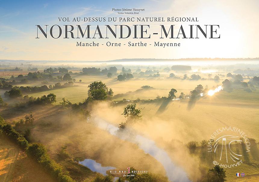 Couverture du livre &quot;Vol au-dessus du parc naturel r&eacute;gional Normandie Maine&quot; sortie automne 2015 photos J&eacute;r&ocirc;me Houyvet<br /> D&Eacute;COUVREZ LE LIVRE ICI https://goo.gl/E9lC0L