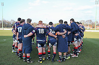 London Scottish players after the Greene King IPA Championship match between London Scottish Football Club and Jersey at Richmond Athletic Ground, Richmond, United Kingdom on 18 February 2017. Photo by David Horn / PRiME Media Images.